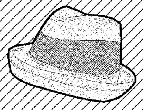 fedora hat coloring page fedora hat coloring pages