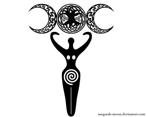 moon goddess tattoo designs attractive pagan tree on right shoulder