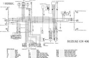 Suzuki Wiring Diagram Suzuki Gn400 Motorcycle Complete Electrical Wiring Diagram