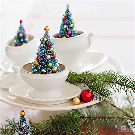 xmas tree table arrengment images easy to make centerpieces better homes gardens