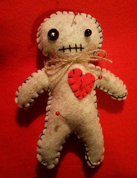 black voodoo doll handmade voodoo doll kit bats felt and handmade
