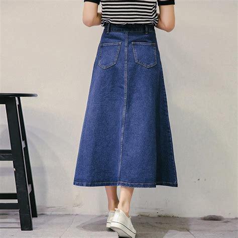 get cheap midi denim skirt aliexpress