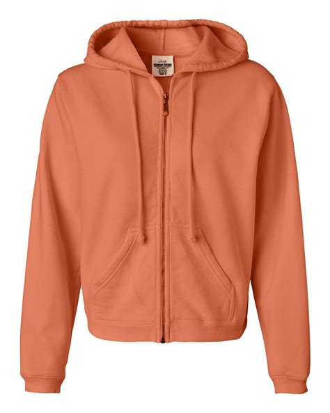 lady comfort colors comfort colors ladies pigment dyed full zip hooded