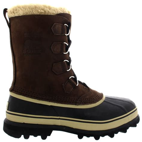 mens waterproof boots uk mens sorel caribou winter snow waterproof fleece lined mid