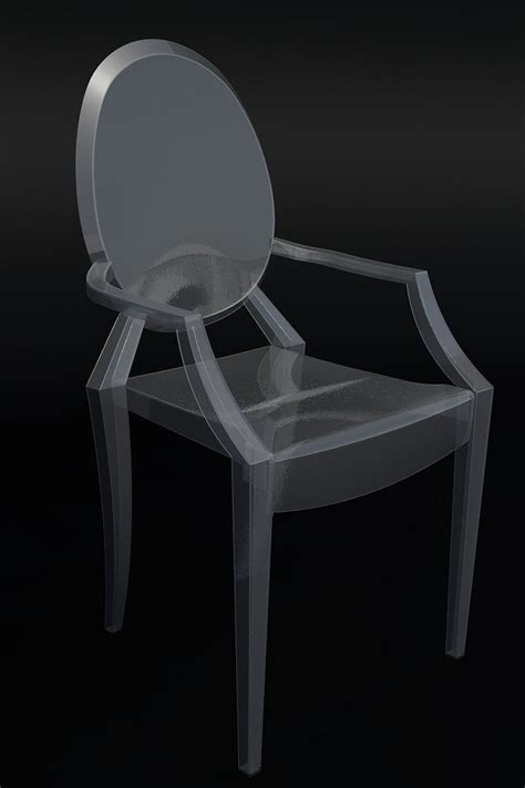 Phillipe Is A Cad by Ghost Chair By Philippe Starck 3d Model Dwg Cgtrader