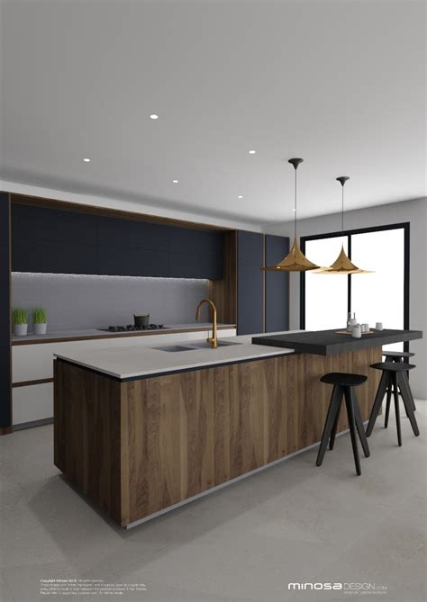 kitchen design minosa striking kitchen design with rich wood copper