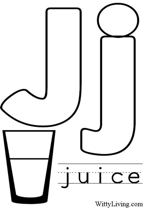 9 best images of letter j coloring worksheet letter j