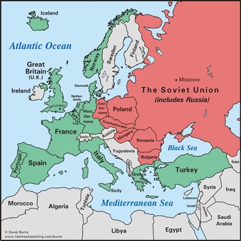 printable world war 2 map of europe europe after world war ii maps and pinterest