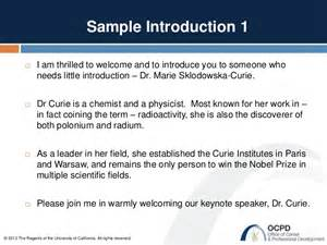 ucsf ocpd how to introduce a speaker