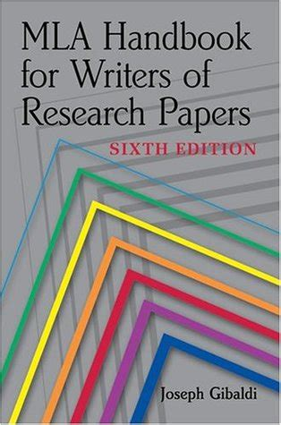 mla handbook for writers of research papers mla handbook for writers of research papers by joseph