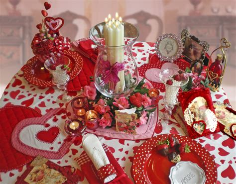 Valentine Table Decorations | valentine s day decorations ideas 2016 to decorate bedroom