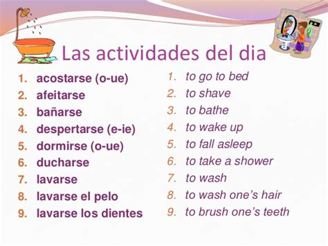 imagenes rutinas diarias en ingles la rutina diaria verbos reflexivos
