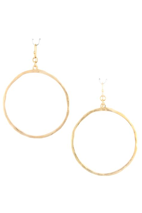 Circle Metal Earrings hammered metal circle earrings