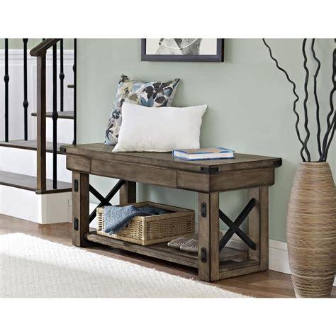 altra furniture altra rustic gray bench 5054096pcom the