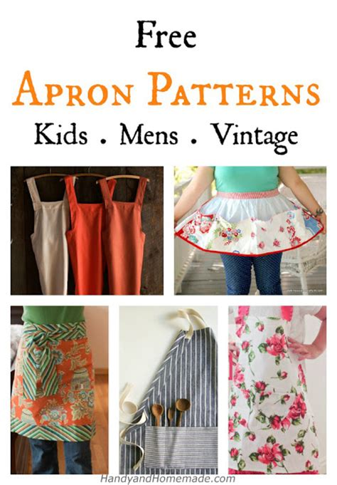 sewing a men s apron 7 free diy apron sewing patterns knitting crochet dıy