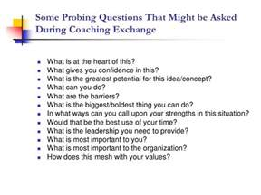 halstead executive coaching probing questions