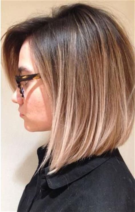 straight wiry hair hair cuts straight ombre layered lob short hair pinterest bobs