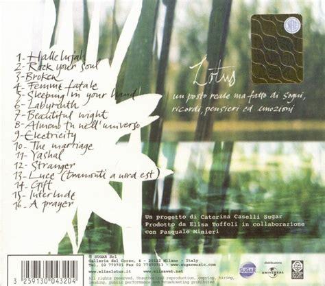 elisa lotus copertina cd elisa lotus back cover cd elisa lotus