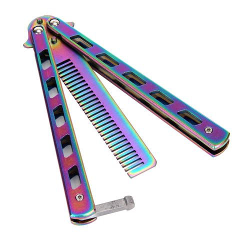 ebay ie 3 colours new metal practice balisong butterfly comb cool