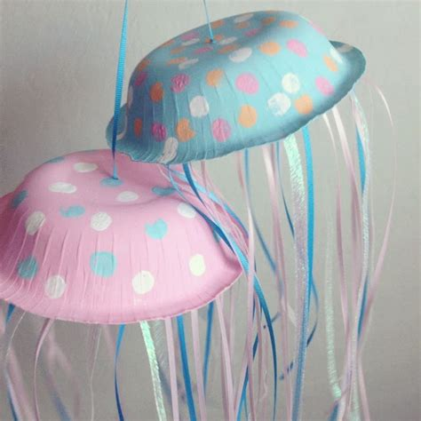 Paper Jellyfish Craft - paper bowl jellyfish for