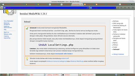 tutorial adalah wikipedia tutorial cara menginstall mediwiki ahmadagusjauhari