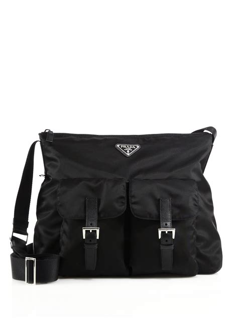 Tote Messenger Bag Black prada black messenger bag prada black leather tote bag
