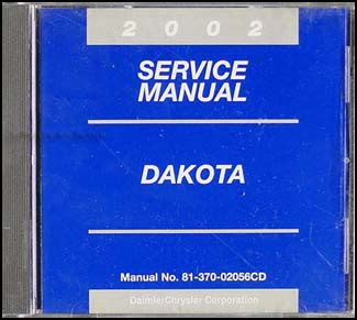service and repair manuals 2002 dodge dakota free book repair manuals 2002 dodge dakota repair shop manual cd rom original