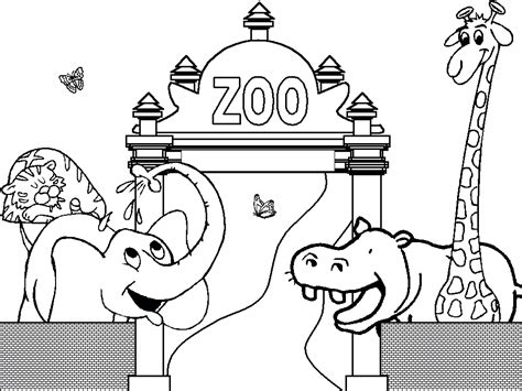 Free Coloring Page Zoo | free printable zoo coloring pages for kids