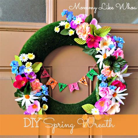 diy spring wreath diy spring wreath mommy like whoa