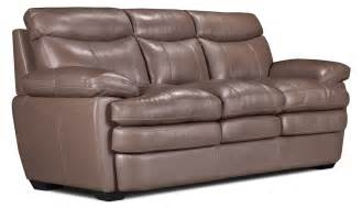 marty genuine leather sofa taupe the brick