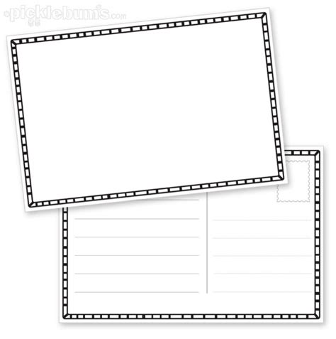 postcard free template printable draw your own postcard picklebums