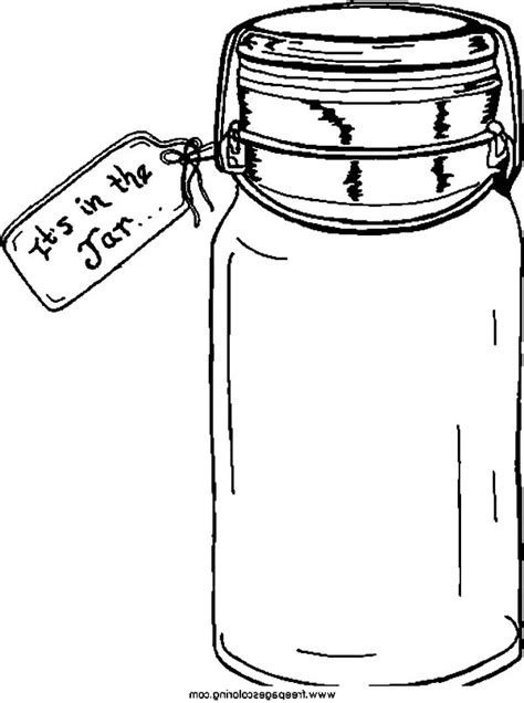 buying cookie jar coloring pages empty jar coloring page