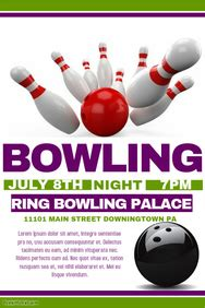 160 Customizable Design Templates For Bowling Postermywall Bowling Event Flyer Template