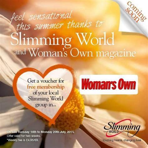 printable vouchers slimming world free membership voucher in woman s own magazine bargain