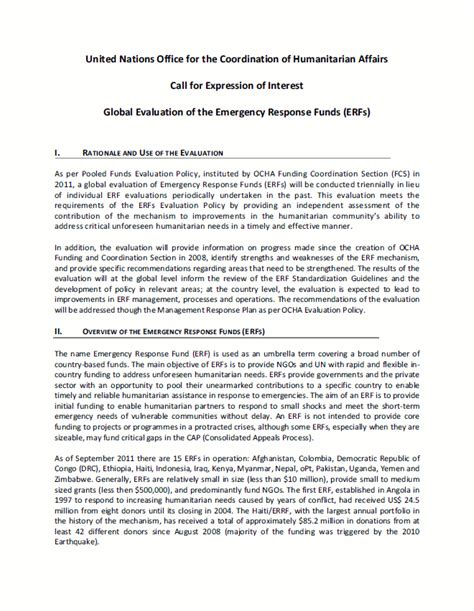 Response Letter Of Interest Expression Of Interest Better Evaluation