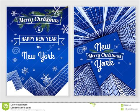 new year postcard template new year postcard template stock vector image 58347622