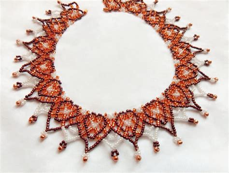 free beading patterns seed netting collar on beading patterns beaded