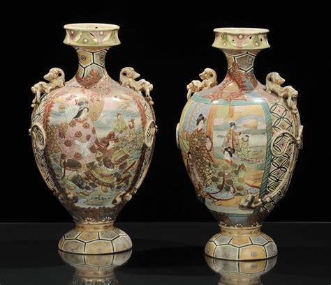 vasi in ceramica antichi coppia di vasi in ceramica antiquariato e dipinti