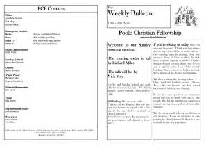free bulletin template best photos of blank church bulletin templates church