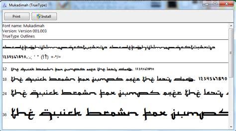 nasywa blog cara install font setting arab di windows 7 blog islami font arabic keren untuk windows