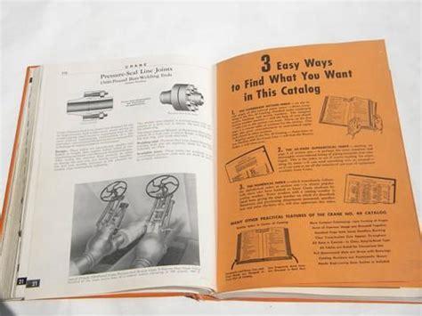 Plumbing Supply Catalog by 1940s Vintage Crane Plumbing Supply Catalog W Tools