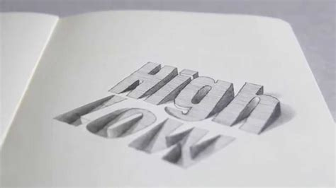 typography drawing text illusion 3d typography illustration