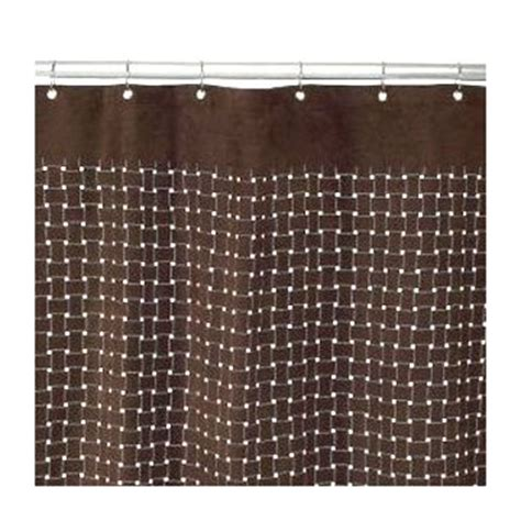 target brown shower curtain target home laser cut suede brown fabric shower curtain