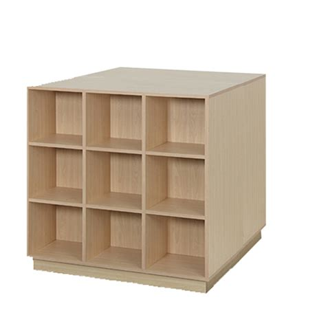wood sided 18 cube display discount shelving