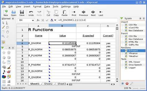 format file kspread v a w program aplikasi pengolah angka selain quot m excel quot
