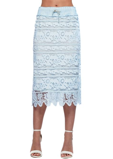 baby blue lace skirt baby blue pencil skirt