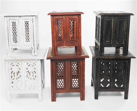 hand carved wood coffee table antique accent furniture end beautiful antique effect hand carved indian wooden table