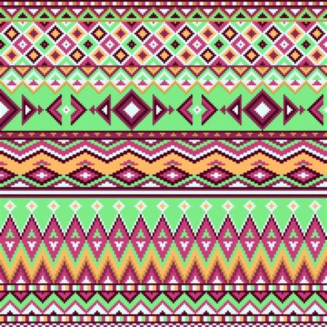 geometric background aztec pattern vector