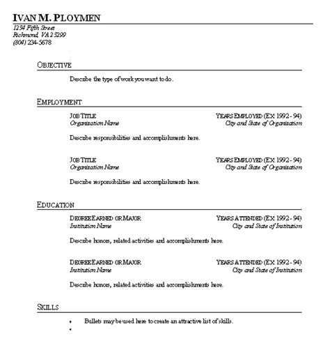 sle resume format resume form to fill in the blank