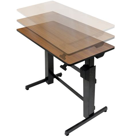 Sit And Stand Computer Desk Standing Desk Ergotron 24 271 927 Workfit D